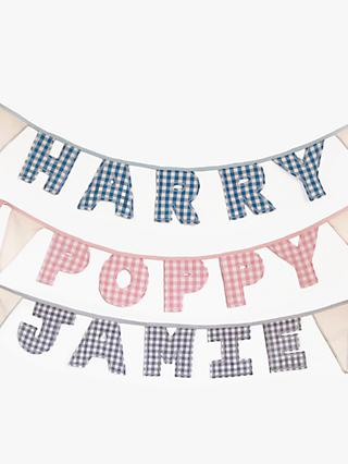 Jonny's Sister Personalised Name Bunting