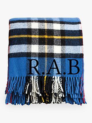 Jonnys Sister Personalised Check Wool Blanket