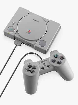 Sony PlayStation Classic Compact Console, with 2 Wired Controllers and 20 Preloaded Games