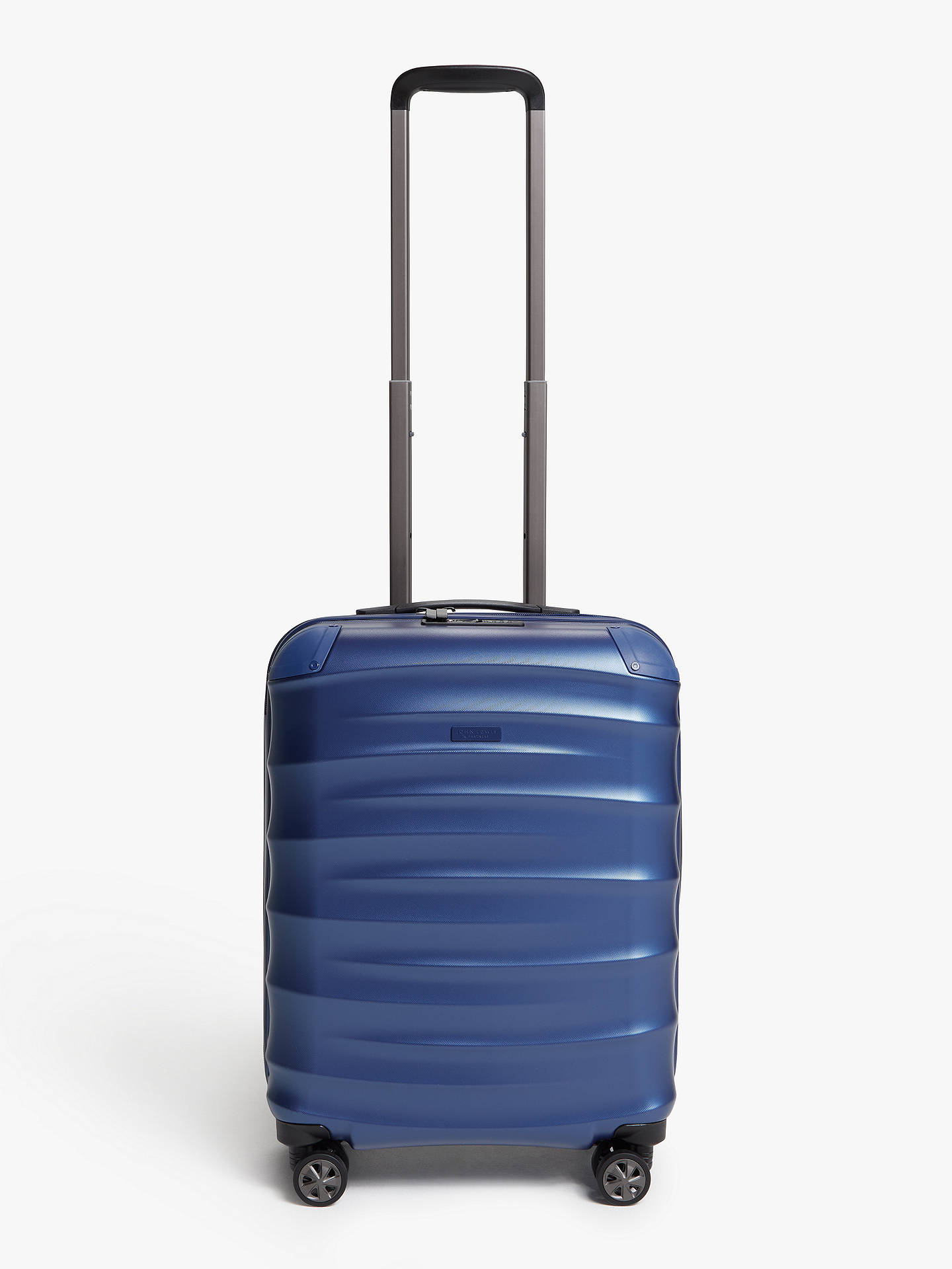 Buy John Lewis & Partners Copenhagen 55cm 4-Wheel Cabin Case, Blue Online at johnlewis.com