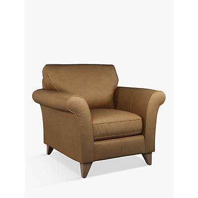 John Lewis & Partners Charlotte Leather Armchair, Dark Leg