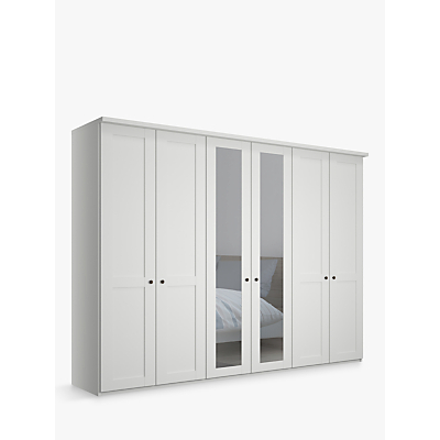 John Lewis & Partners Marlow 300cm Mirrored Hinged Wardrobe