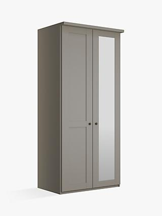 John Lewis Partners Marlow 100cm Hinged Wardrobe With Right Mirror