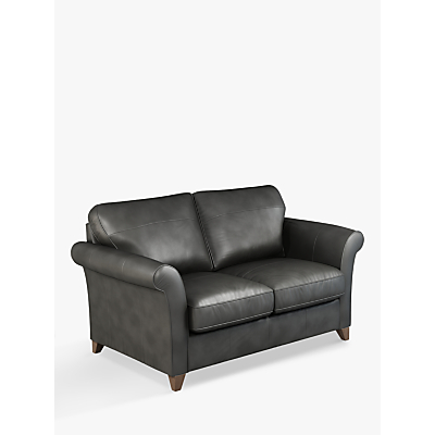 John Lewis & Partners Charlotte Medium 2 Seater Leather Sofa, Dark Leg