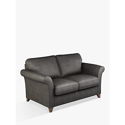 John Lewis & Partners Charlotte Medium 2 Seater Leather Sofa, Dark Leg