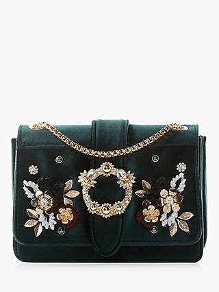 c3d6ab660e Dune Devi Small Embroidered Flowers Cross Body Bag