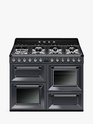 Smeg Victoria TR4110GR 110cm Dual Fuel Range Cooker, A Energy Rating
