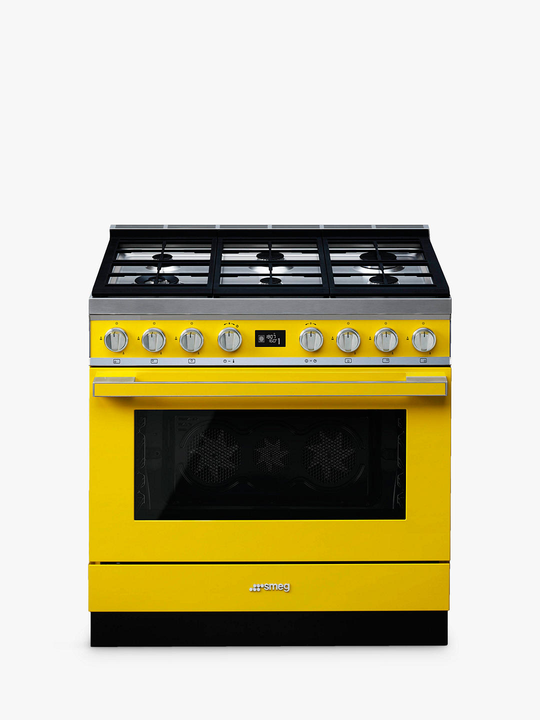 Buy Smeg Portofino CPF9GPYW Dual Fuel Range Cooker, A+ Energy Rating, Yellow Online at johnlewis.com