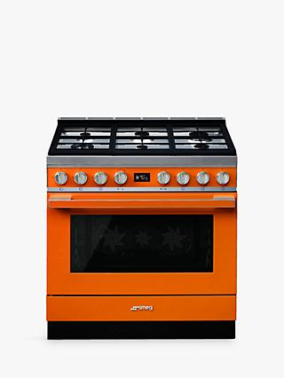 Smeg Portofino CPF9G Dual Fuel Range Cooker, A+ Energy Rating,
