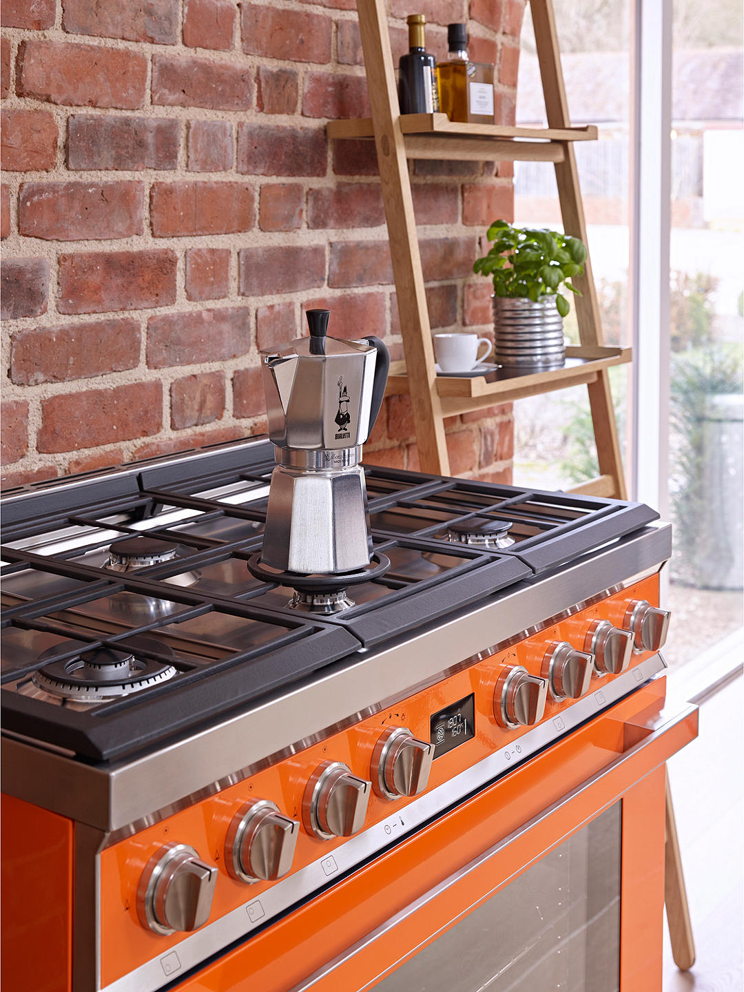 Buy Smeg Portofino CPF9GPOR Dual Fuel Range Cooker, A+ Energy Rating, Orange Online at johnlewis.com