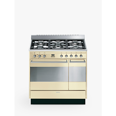 Image of Smeg Concert SUK92M 90cm Dual Double Range Cooker with Gas Hob, A Energy Rating