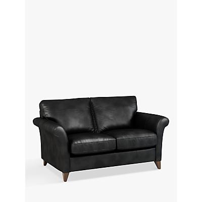 John Lewis & Partners Charlotte Small 2 Seater Leather Sofa, Dark Leg
