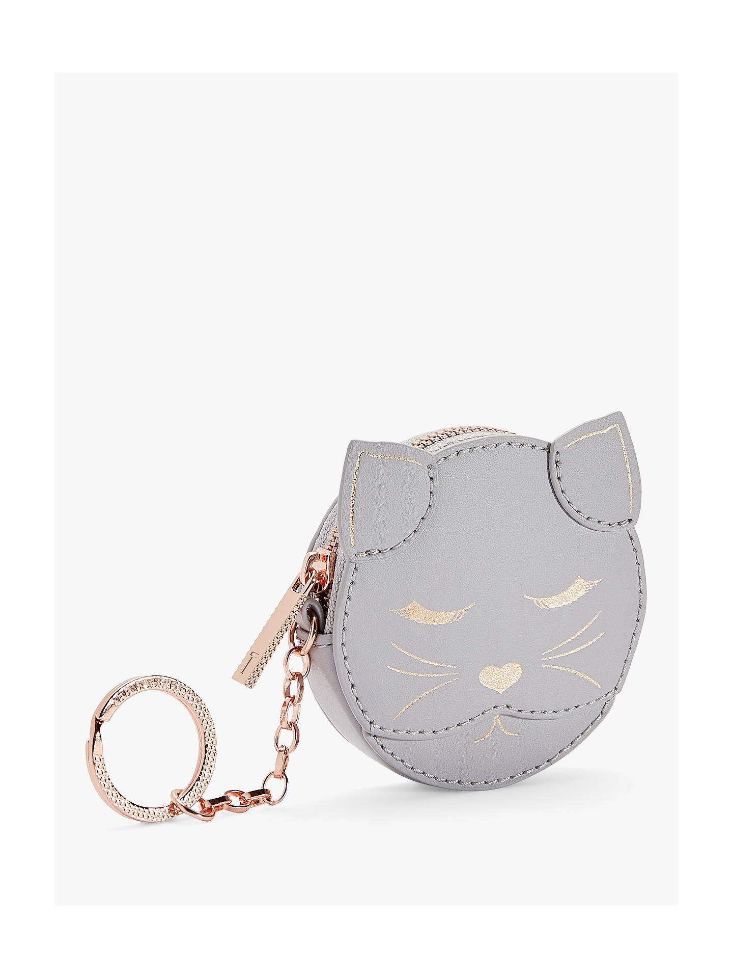 93097b1d0 Ted Baker Tabbiee Leather Cat Bag Charm Purse at John Lewis   Partners