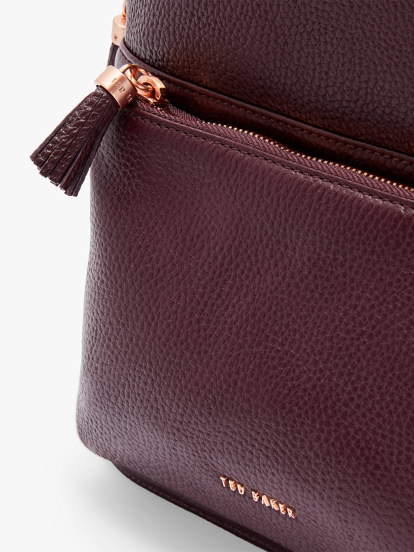 BuyTed Baker Mollyyy Leather Backpack, Dark Purple Online at johnlewis.com