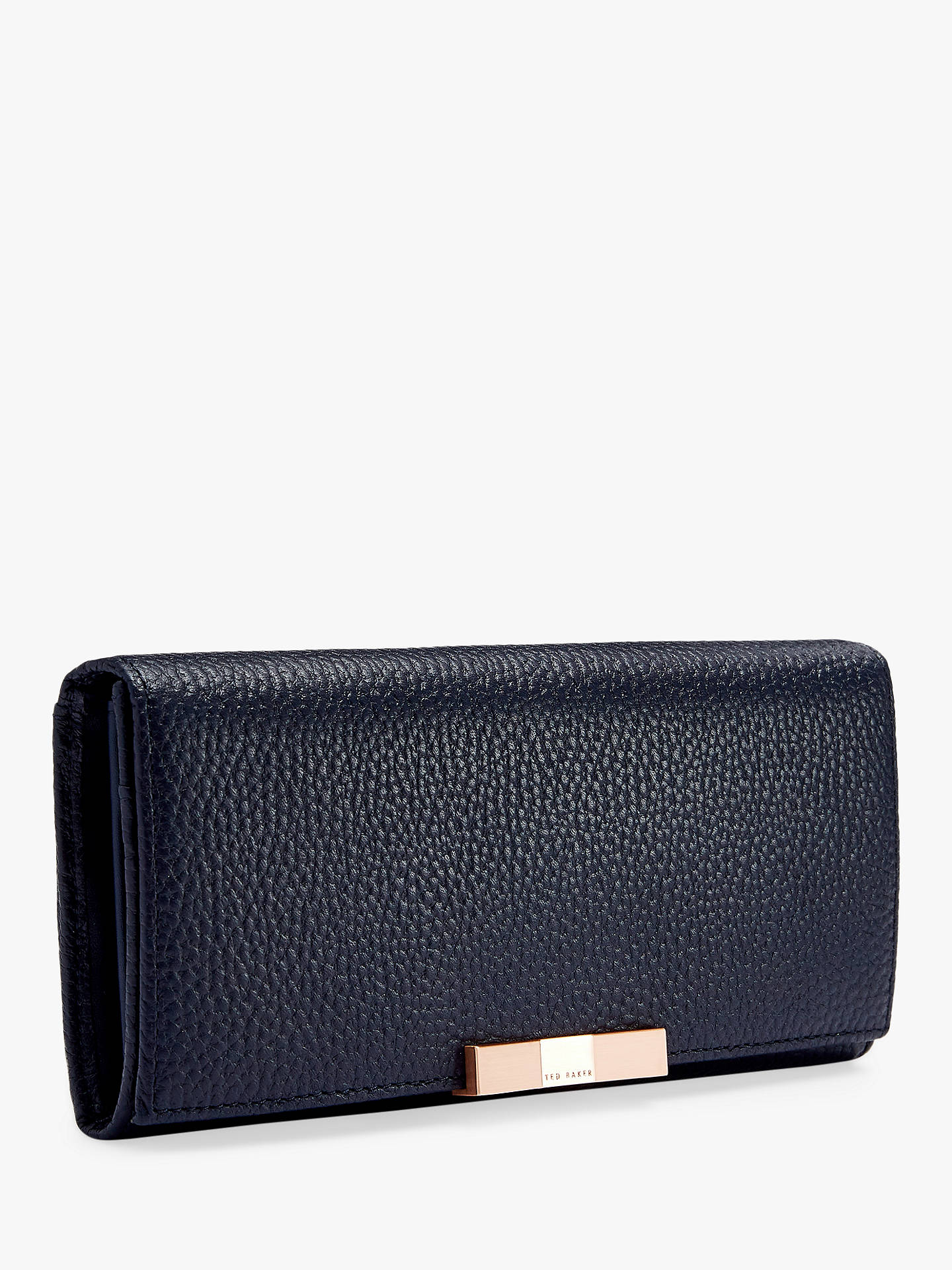 BuyTed Baker Devyn Leather Foldover Purse, Dark Blue Online at johnlewis.com