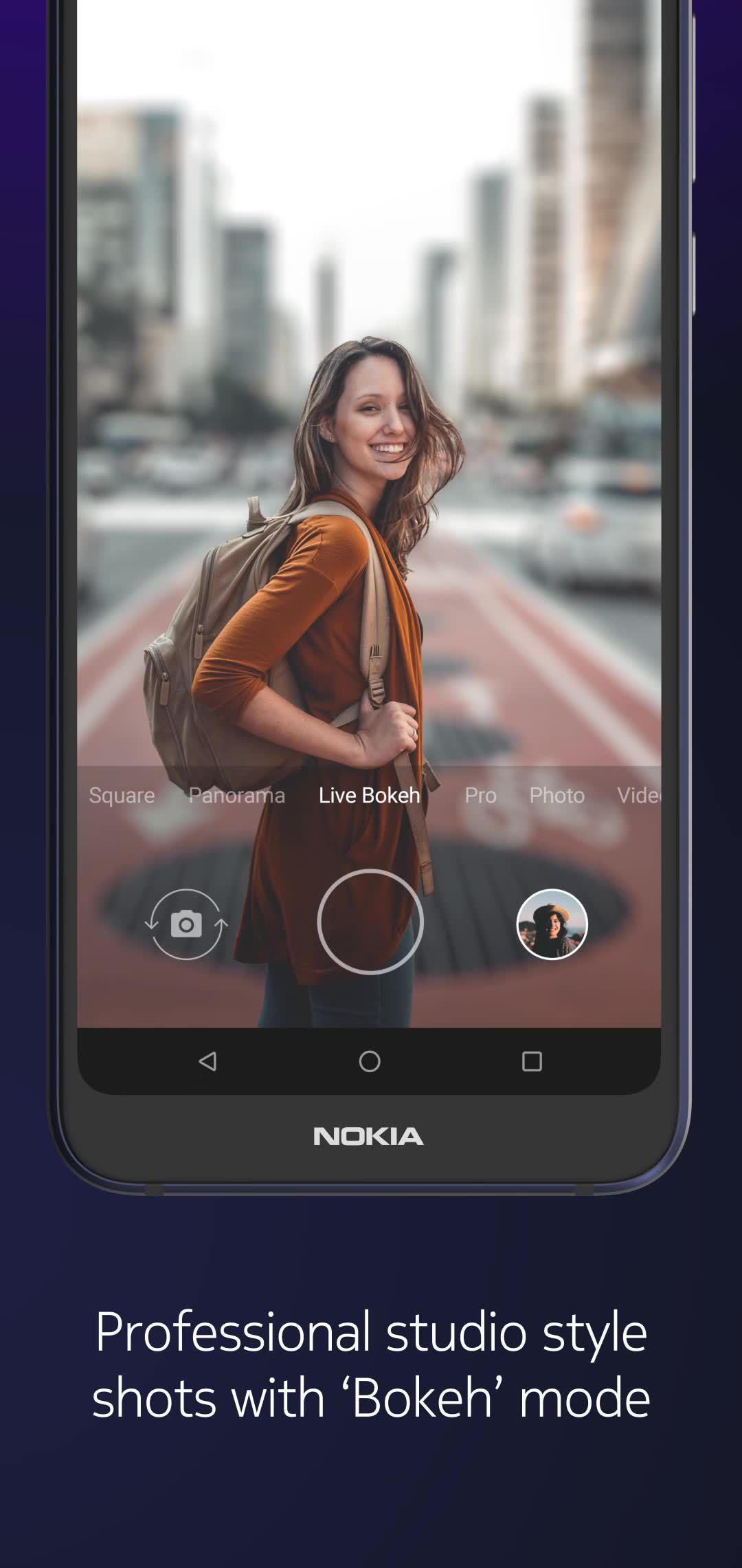 "Nokia 7 1 Smartphone, Android, 5 8"", 4G LTE, SIM Free, 32GB, Blue"