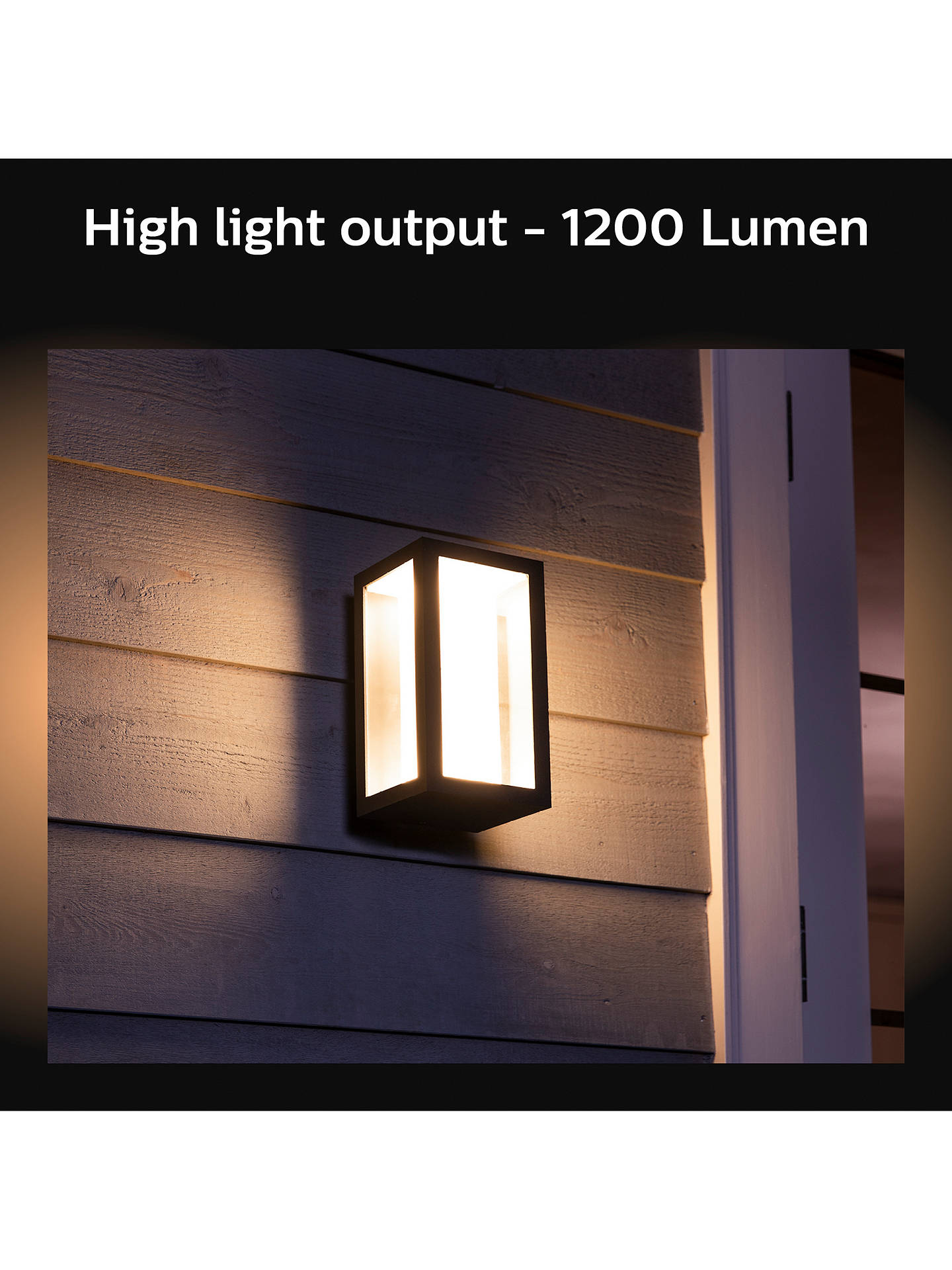 Philips Hue White And Colour Ambiance Impress Led Outdoor Wall Light Black