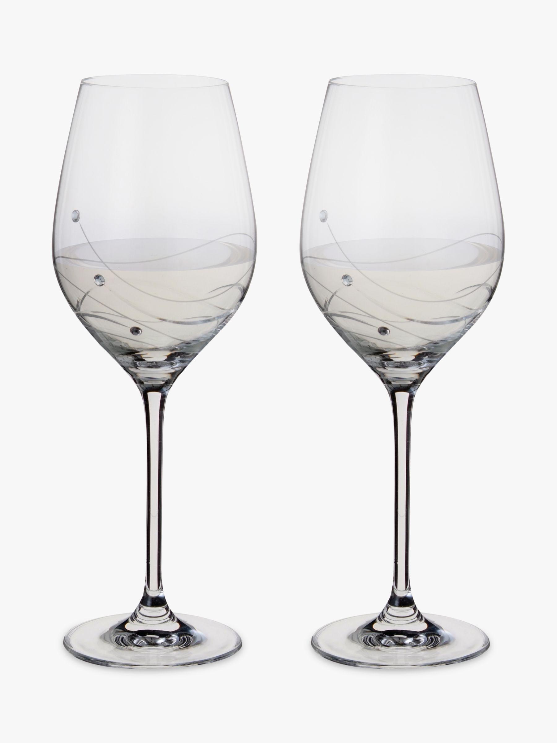 Dartington Crystal Dartington Crystal Glitz Wine Glasses, 330ml, Set of 2, Clear