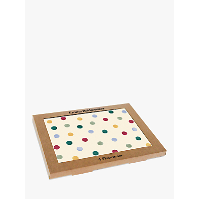 Emma Bridgewater Polka Dot Placemats, Set of 4, Multi