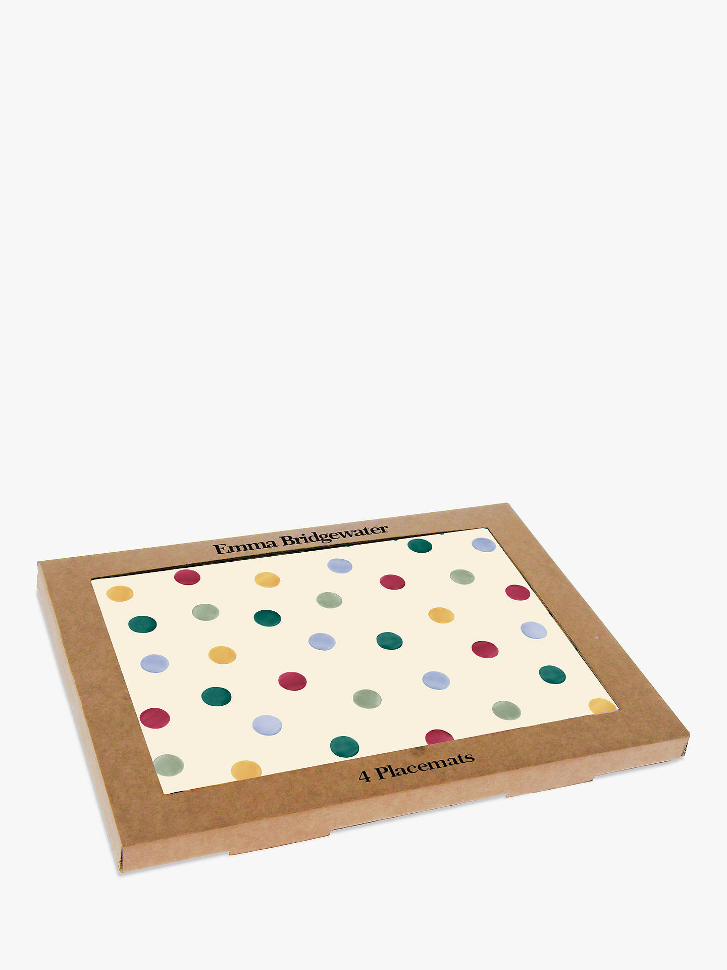 BuyEmma Bridgewater Polka Dot Placemats, Set of 4, Multi Online at johnlewis.com