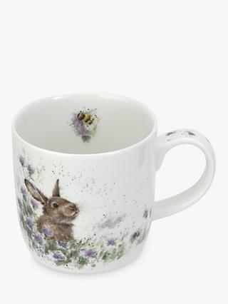 Wrendale Designs Meadow Rabbit Mug, Multi, 310ml