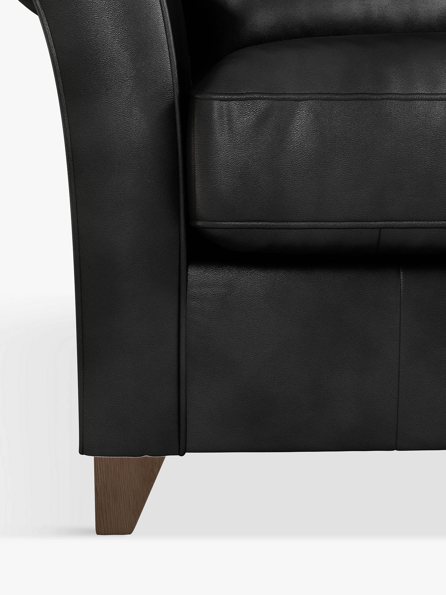 Buy John Lewis & Partners Charlotte Leather Snuggler, Dark Leg, Contempo Black Online at johnlewis.com