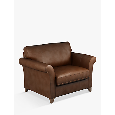John Lewis & Partners Charlotte Leather Snuggler, Dark Leg