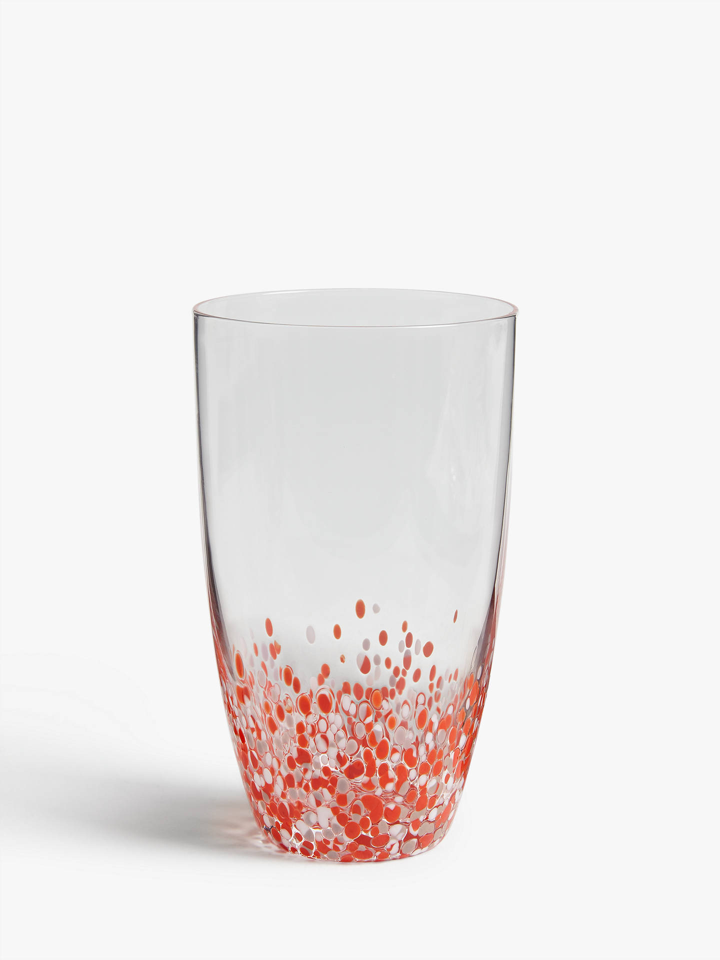 Buy John Lewis & Partners Bohemian Summer Highball Glass, 380ml, Orange/White Online at johnlewis.com