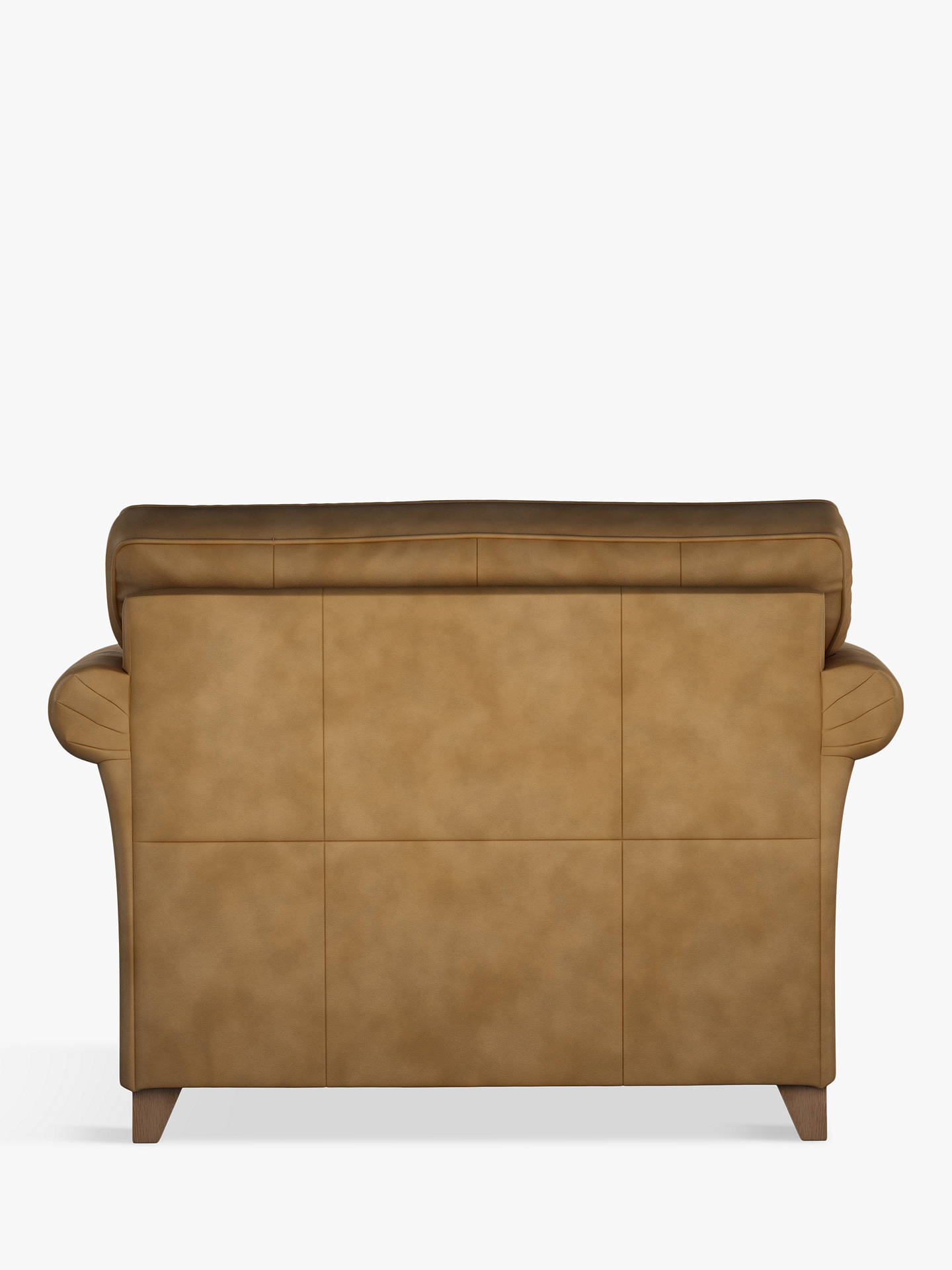 Buy John Lewis & Partners Charlotte Leather Snuggler, Dark Leg, Demetra Light Tan Online at johnlewis.com