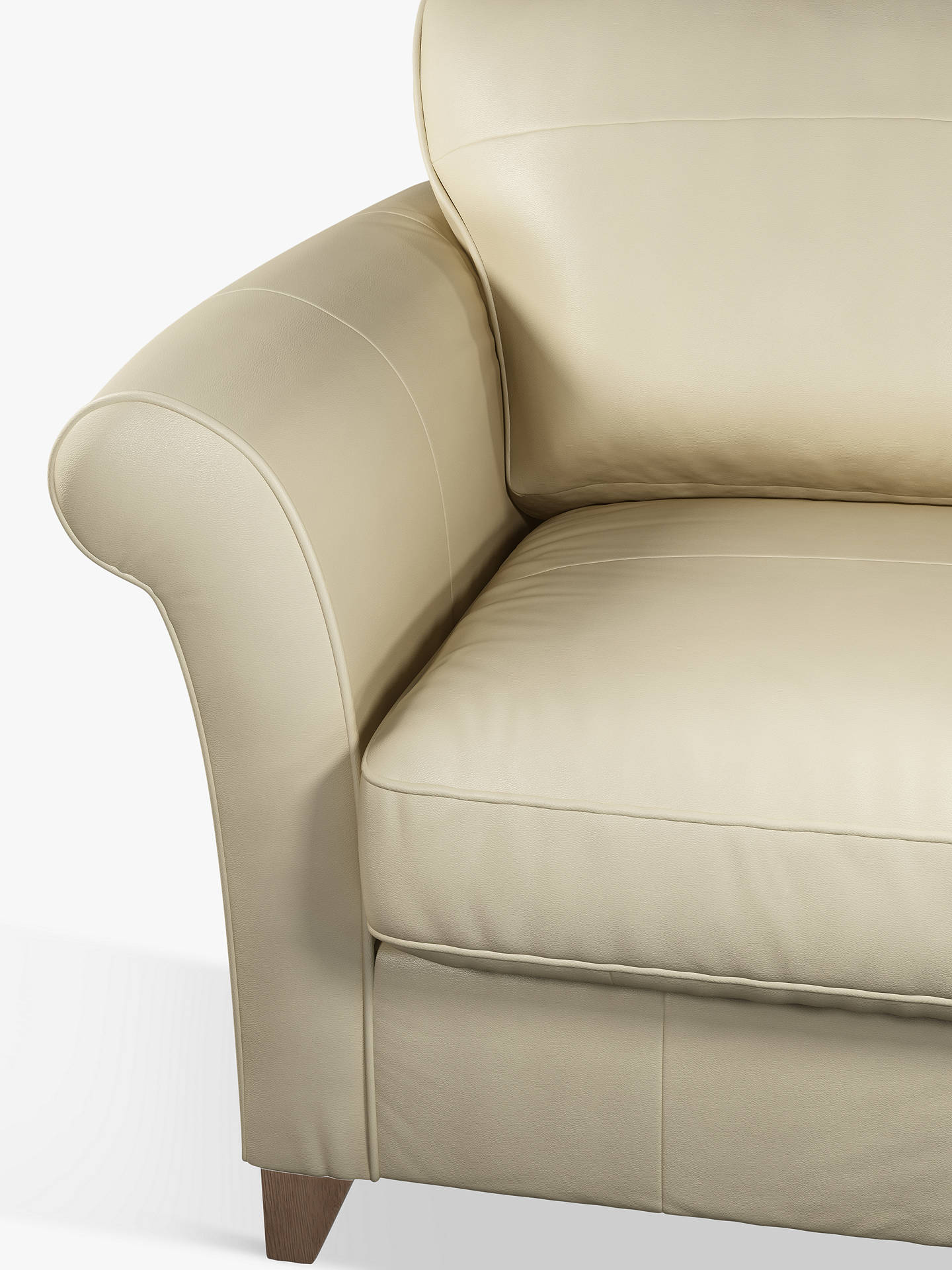Buy John Lewis & Partners Charlotte Leather Snuggler, Dark Leg, Nature Cream Online at johnlewis.com