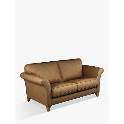 John Lewis & Partners Charlotte Large 3 Seater Leather Sofa, Dark Leg