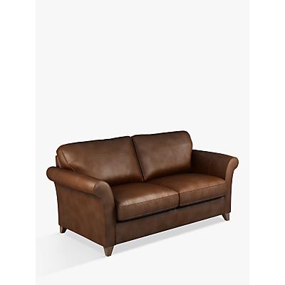 John Lewis & Partners Charlotte Grand 4 Seater Leather Sofa, Dark Leg