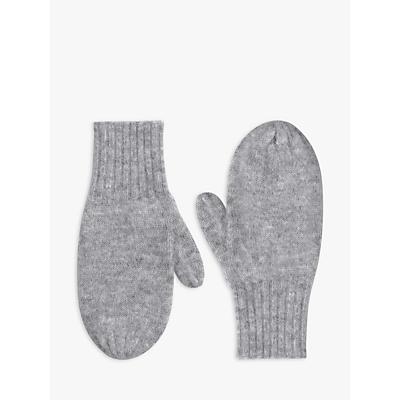 hush Alpaca Mittens, Grey Marl