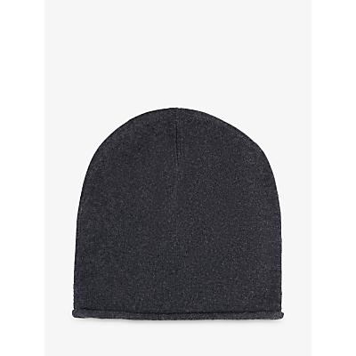 hush Cashmere Beanie Hat, Charcoal