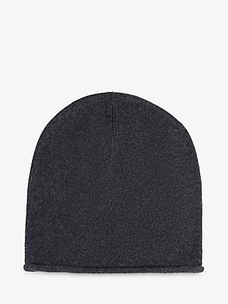 hush Cashmere Beanie Hat, Charcoal