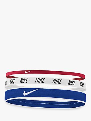 online store 28e65 52487 Nike Elastic Headband, Pack of 3, Red/White/Blue
