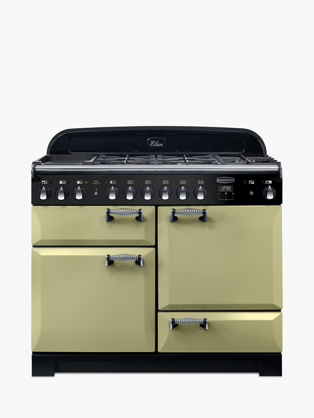 Buy Rangemaster Elan Deluxe 110 Dual Fuel Range Cooker, Olive Green Online at johnlewis.com