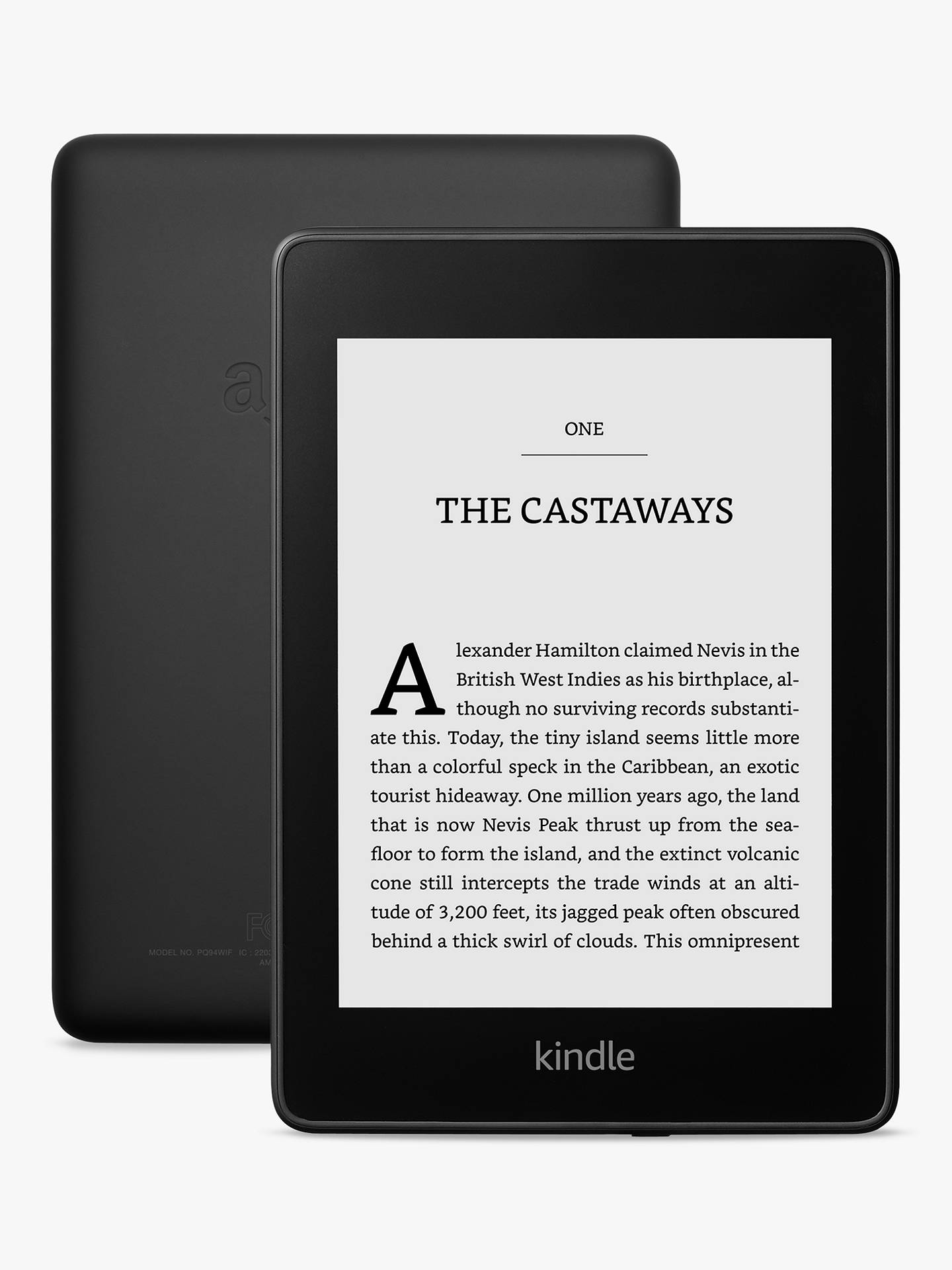 """Buy Amazon Kindle Paperwhite, Waterproof eReader, 6"""" High Resolution Illuminated Touch Screen, Built-In Audible, 32GB Online at johnlewis.com"""
