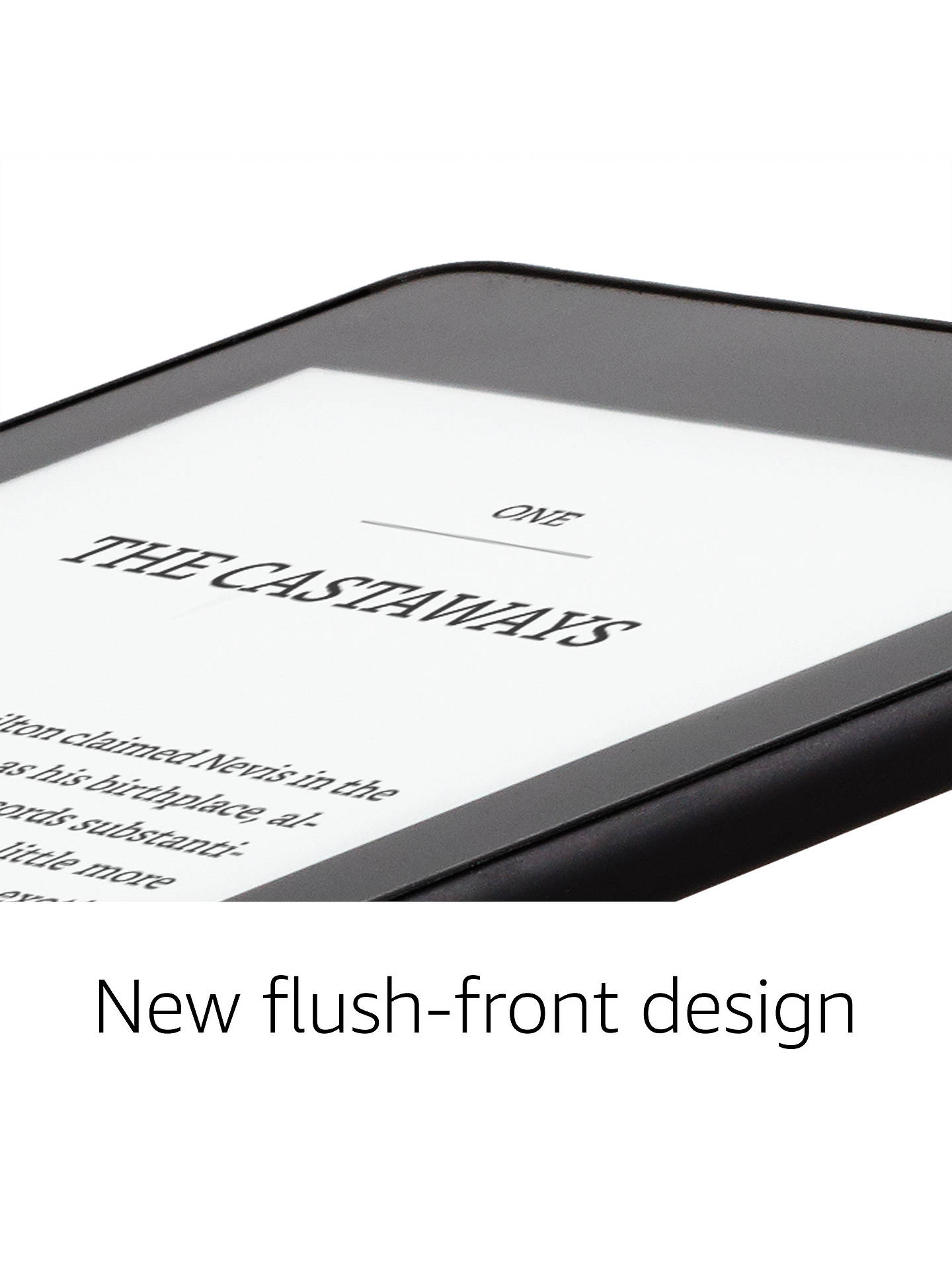 "Buy Amazon Kindle Paperwhite, Waterproof eReader, 6"" High Resolution Illuminated Touch Screen, Built-In Audible, 8GB, with Special Offers, Black Online at johnlewis.com"