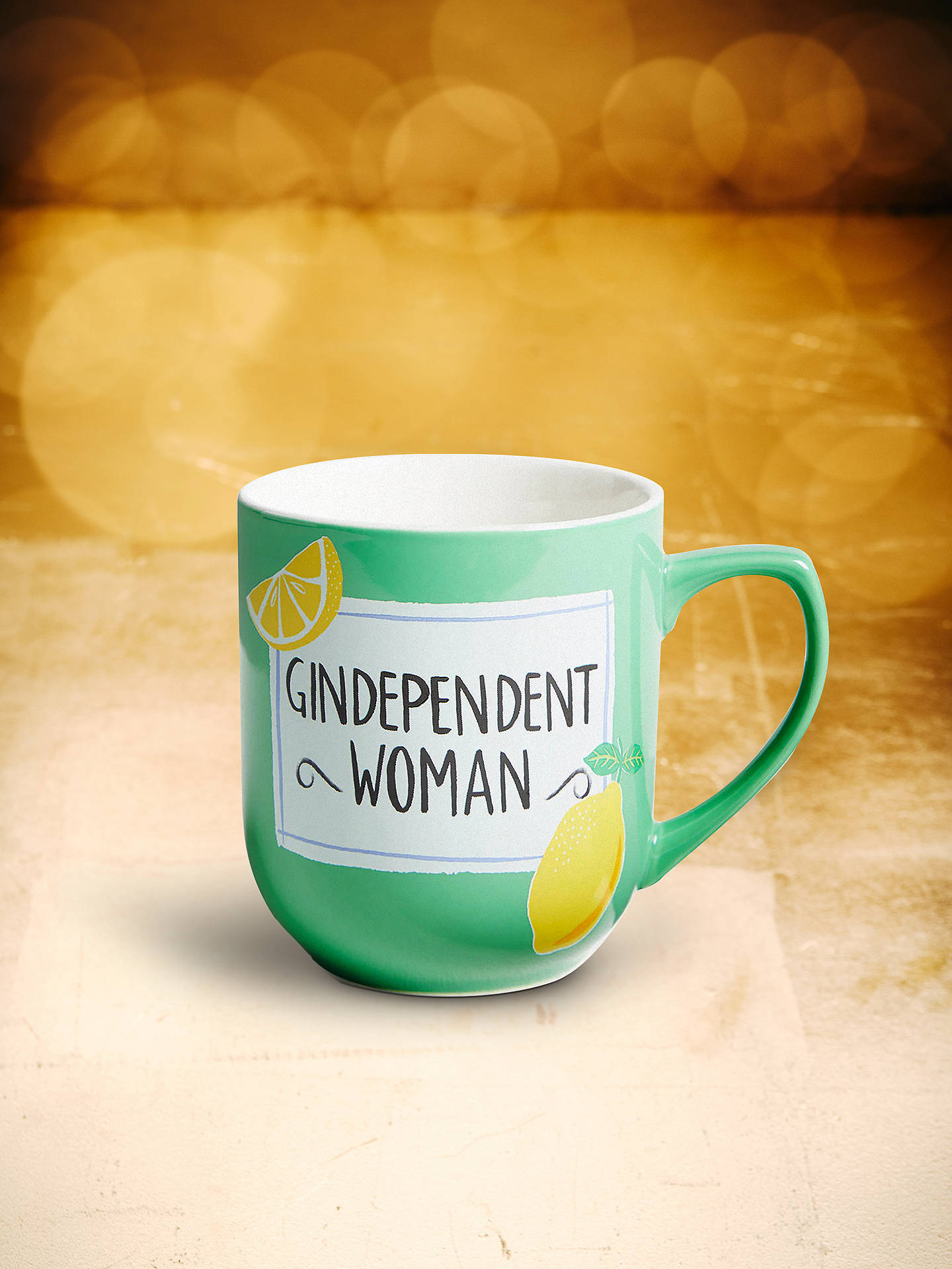 dfd295d3d498 Buy John Lewis & Partners Gindependent Woman Mug, 330ml, Green/Multi Online  at ...
