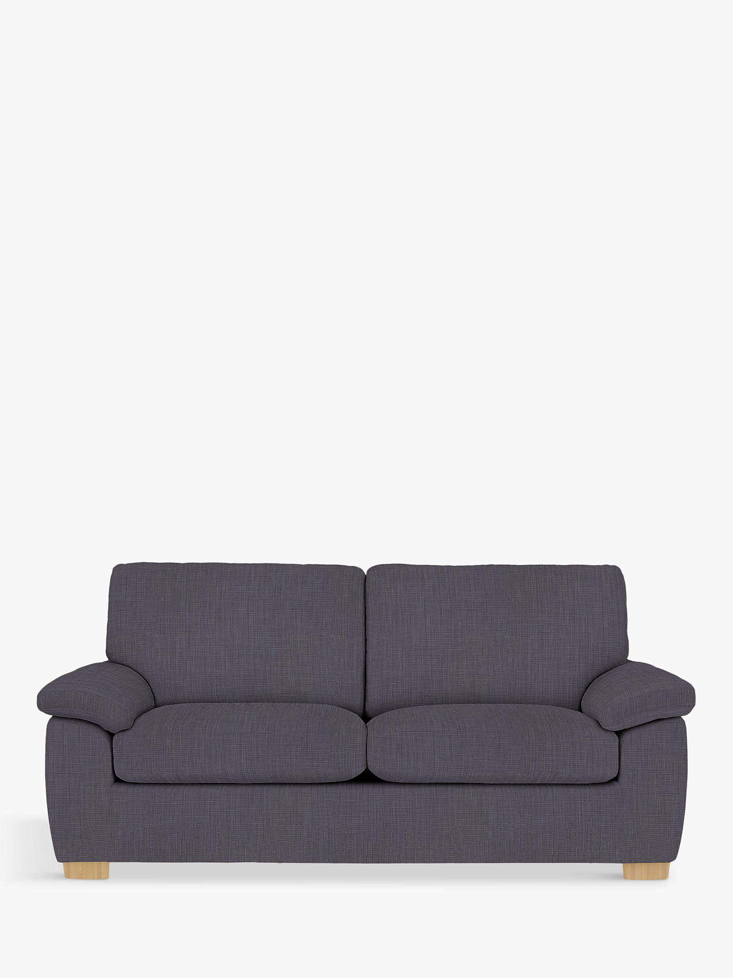 Buy John Lewis & Partners Camden Large 3 Seater Sofa, Light Leg, Glyn Charcoal Online at johnlewis.com