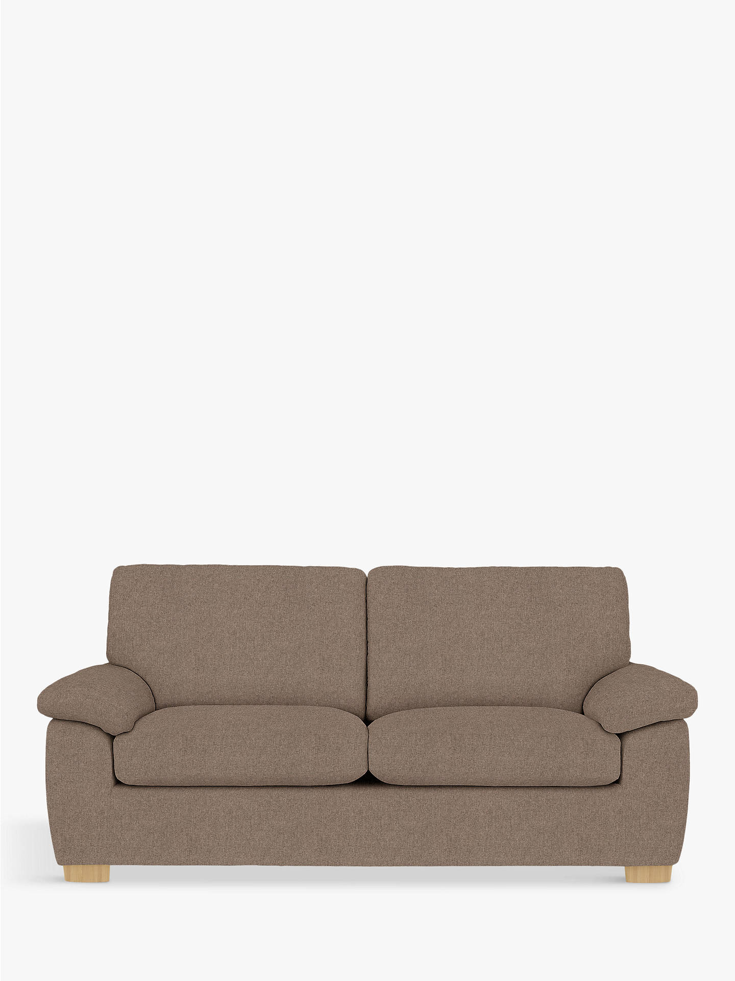 Buy John Lewis & Partners Camden Large 3 Seater Sofa, Light Leg, Dylan Natural Online at johnlewis.com