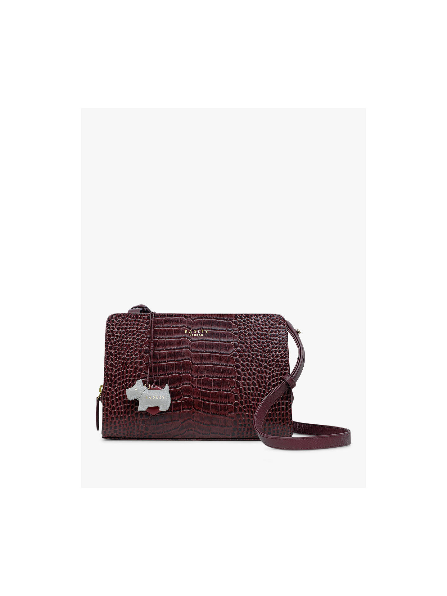 ce9d672ed Buy Radley Liverpool Street Leather Medium Cross Body Bag, Red Online at  johnlewis.com ...