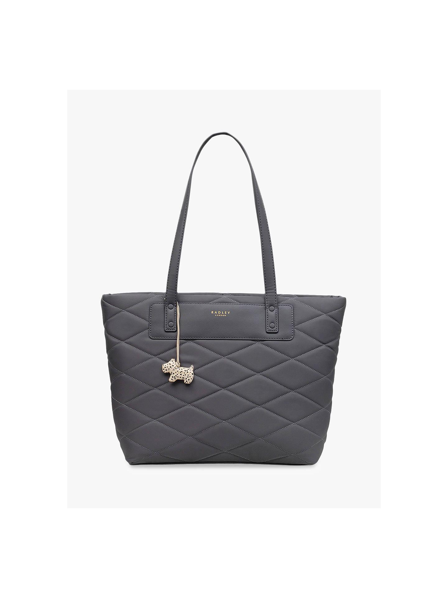 752adcbcef25 Buy Radley Charleston Quilted Fabric Medium Shoulder Bag, Charcoal Online  at johnlewis.com ...