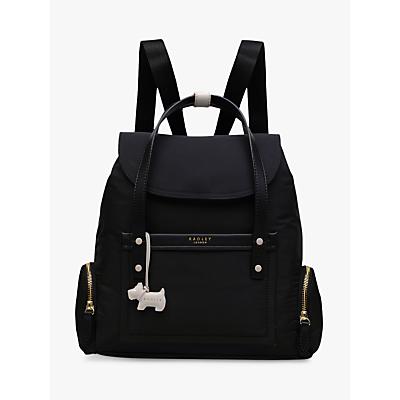 Radley River Street Medium Flapover Backpack, Black