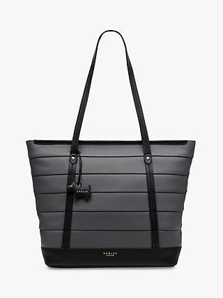 Radley Babington Medium Leather Tote Bag Grey