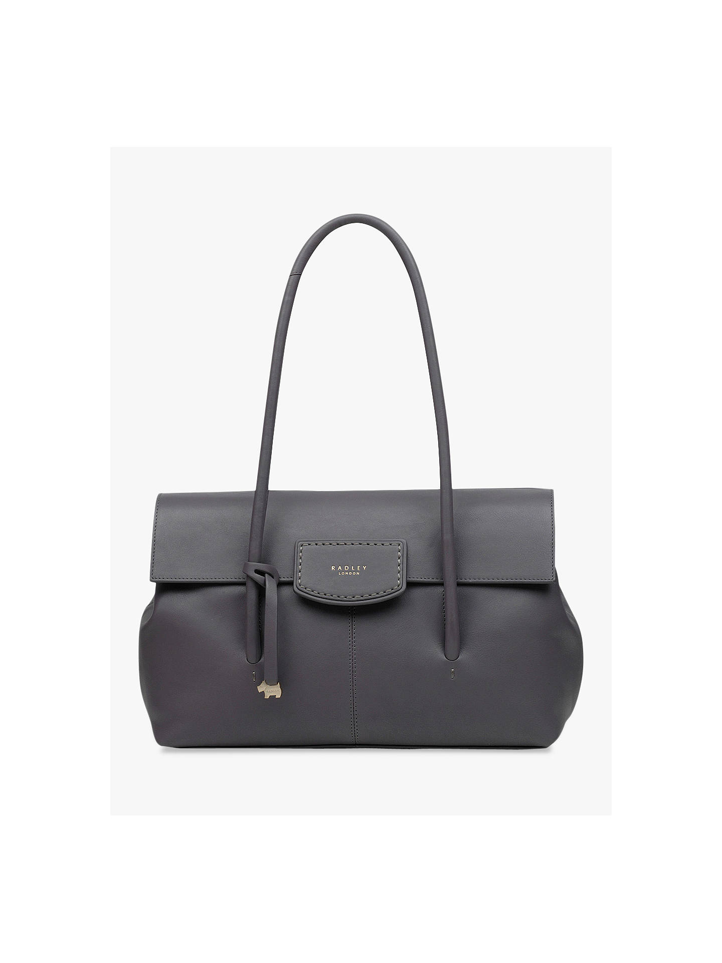 8717cbd2098ec Buy Radley Burnham Beaches Leather Large Shoulder Bag, Grey Online at  johnlewis.com ...