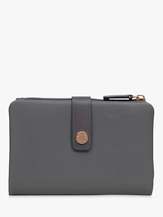 Radley Larks Wood Medium Folded Leather Purse, Grey