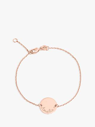 Merci Maman Personalised Pastille Chain Bracelet, Rose Gold