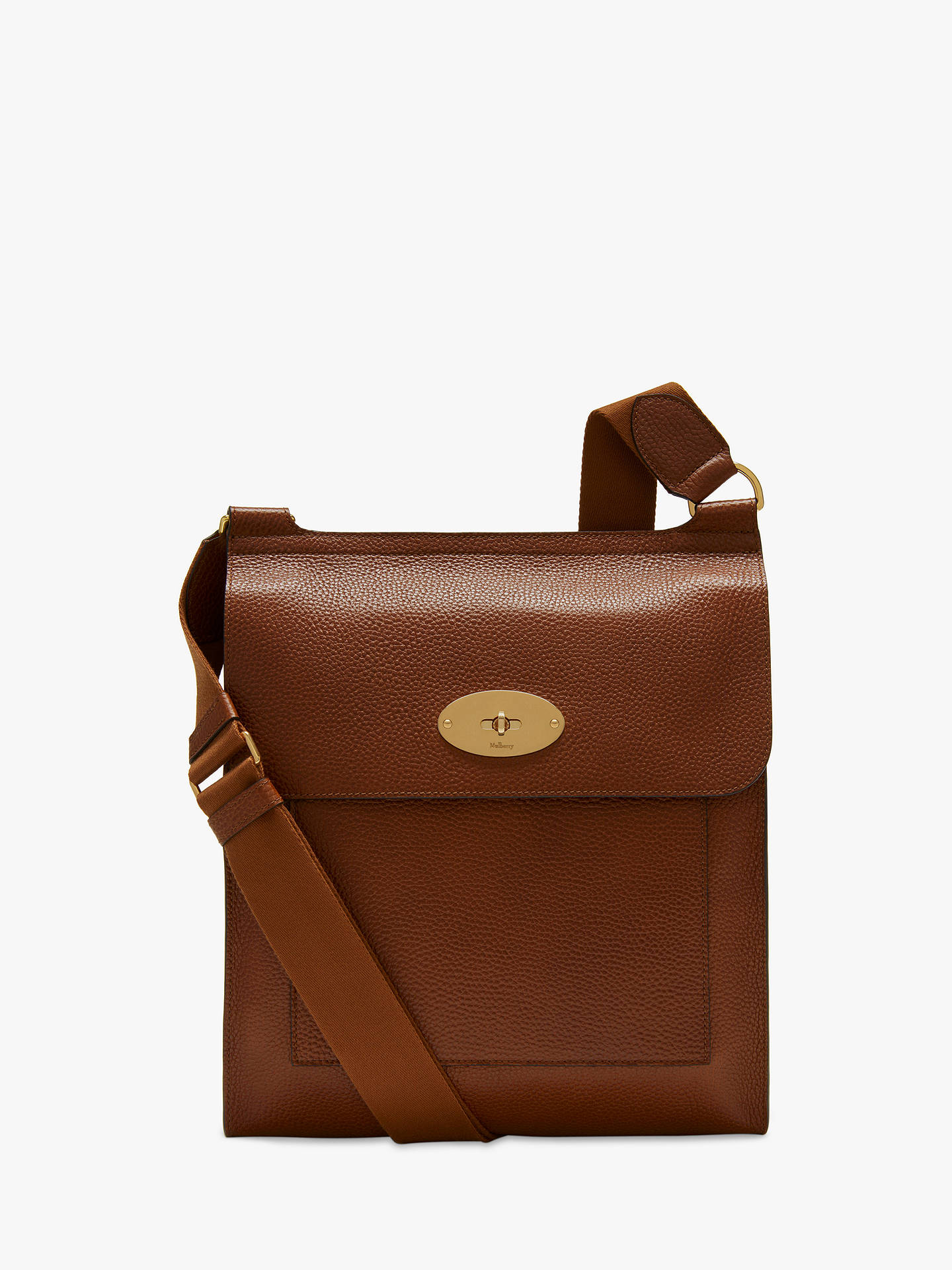 a3ec7e8778 Mulberry Antony Grain Veg Tanned Leather Messenger Bag at John Lewis ...